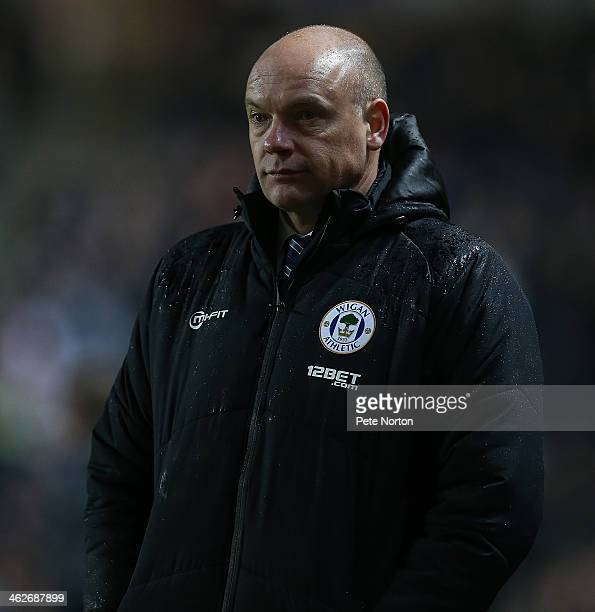 Wigan Athletic manager Uwe Rosler looks on during the FA Cup with Budweiser Third Round Replay between Milton Keynes Dons and Wigan Athletic at...