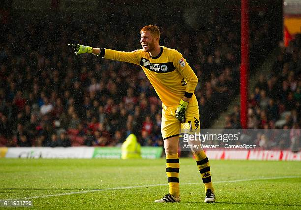 Wigan Athletic's Adam Bogdan in action during todays match during the Sky Bet Championship match between Brentford and Wigan Athletic at Griffin Park...