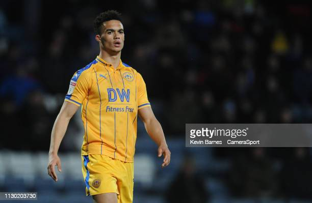 Wigan Athletic's Antonee Robinson during the Sky Bet Championship match between Blackburn Rovers and Wigan Athletic at Ewood Park on March 12 2019 in...
