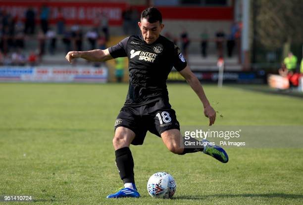 Wigan Athletic's Gary Roberts during the Sky Bet League One match at Highbury Stadium Fleetwood
