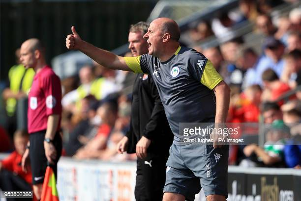Wigan Athletic's manager Paul Cook