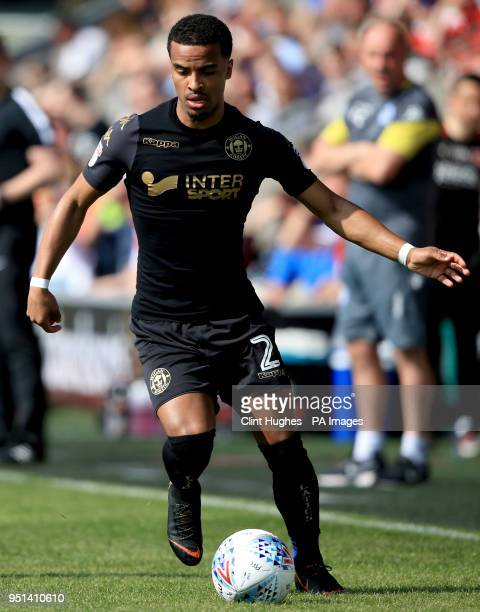 Wigan Athletic's Nathan Byrne during the Sky Bet League One match at Highbury Stadium Fleetwood