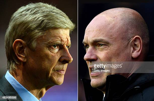 IMAGES Image Numbers 465638489 and 460527549 In this composite image a comparison has been made between Arsene Wenger the Manager of Arsenal and Uwe...