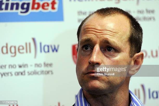 Wigan Warriors head coach Michael Maguire speaks to the media following the Engage Super League match between Hull Kingston Rovers and Wigan Warriors...