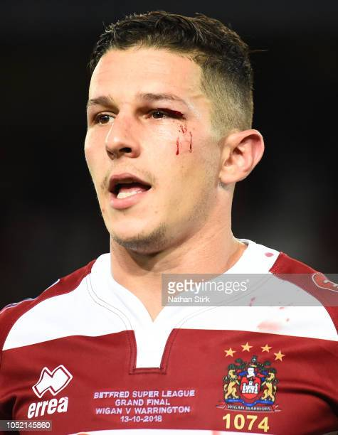 Wigan Warriors' Morgan Escare looks on during the BetFred Super League Grand Final match between Warrington Wolves and Wigan Warriors at Old Trafford...