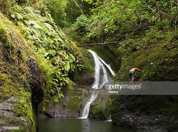 wigmore di papua cascata rarotonga isole cook - isole cook foto e immagini stock
