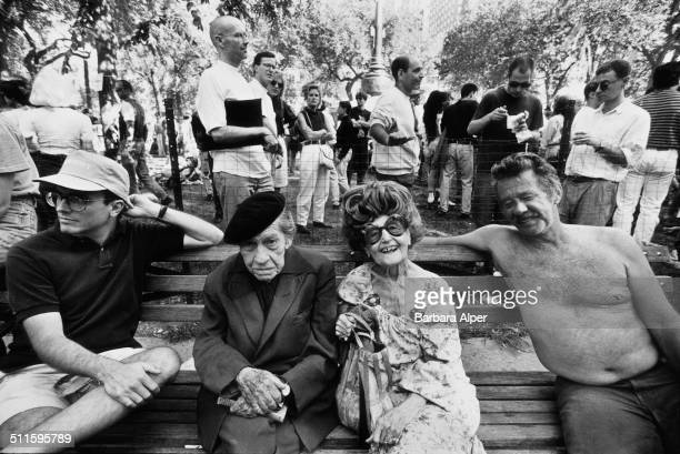 Wigstock, an annual outdoor drag festival in Union Square Park, New York City, 2nd September 1991.