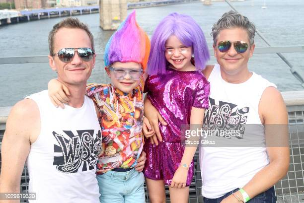 Wigstock Producer Neil Patrick Harris son Gideon Scott BurtkaHarris daughter Harper Grace BurtkaHarris and husband David Burtka pose backstage at...