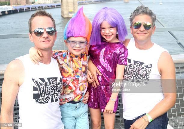 "Wigstock"" Producer Neil Patrick Harris, son Gideon Scott Burtka-Harris, daughter Harper Grace Burtka-Harris and husband David Burtka pose backstage..."