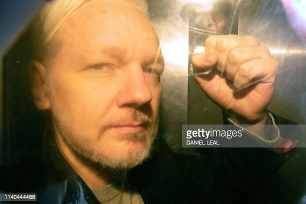 WikiLeaks founder Julian Assange arrives at court in London on May 1 2019 to be sentenced for bail violation Assange will be sentenced today for...