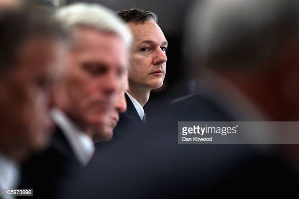 Wikileaks founder Julian Assange arrives to hold a press conference at Park Plaza Hotel on October 23 2010 in London England A series of new leaks of...