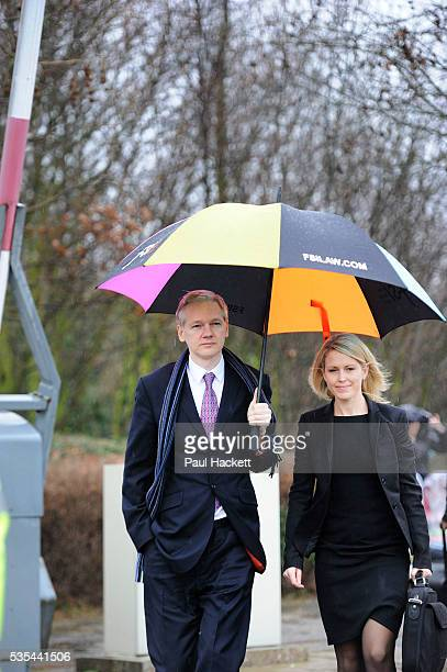 WikiLeaks founder Julian Assange arrives with his lawyer Jennifer Robinson for the final day of his extradition hearing at Belmarsh Magistrates'...