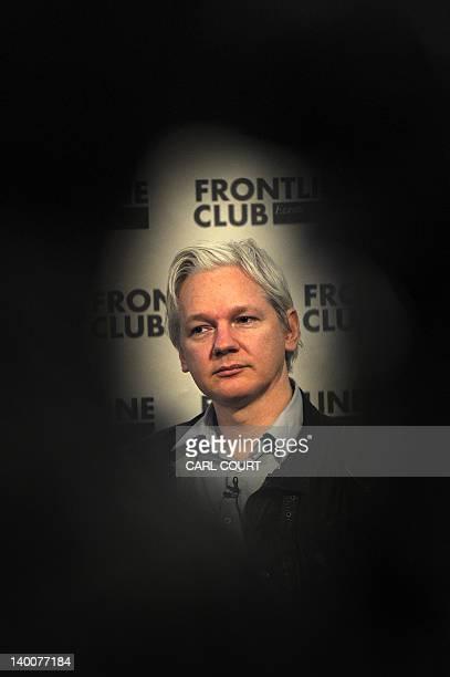 WikiLeaks founder Julian Assange attends a press conference in central London on February 27 2012 Whistleblowing website WikiLeaks on February 27...