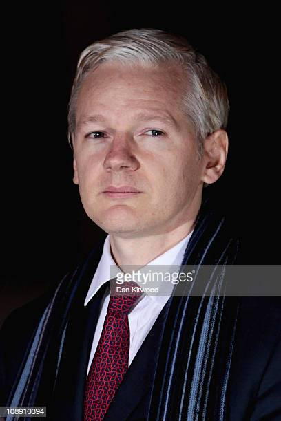 WikiLeaks founder Julian Assange leaves Belmarsh Magistrates Court on February 8 2011 in London England Mr Assange is continuing his challenge to a...