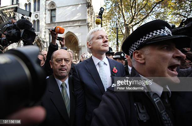 WikiLeaks founder Julian Assange leaves The High Court on November 2 2011 in London England Mr Assange has failed in his bid to stop his extradition...