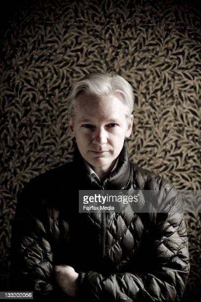 Wikileaks founder Julian Assange poses during a portrait shoot on May 21 2010 in Melbourne Australia