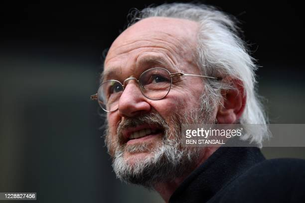 WikiLeaks founder Julian Assange's father, John Shipton speaks outside the Old Bailey in the City of London on October 1 the final day of the...