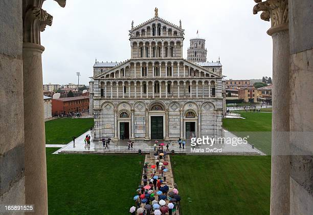 The Piazza del Duomo is a wide walled area to the north of central Pisa Tuscany Italy recognized as one of the main centers for medieval art in the...