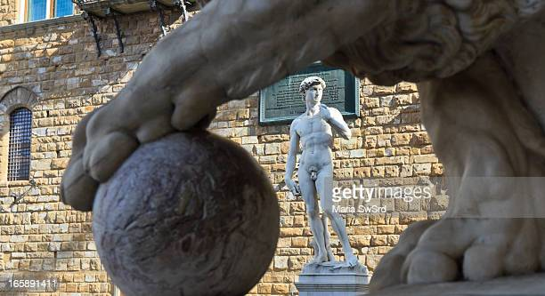 Wikipedia: David is a masterpiece of Renaissance sculpture created between 1501 and 1504, by the Italian artist Michelangelo. It is a 5.17-metre...