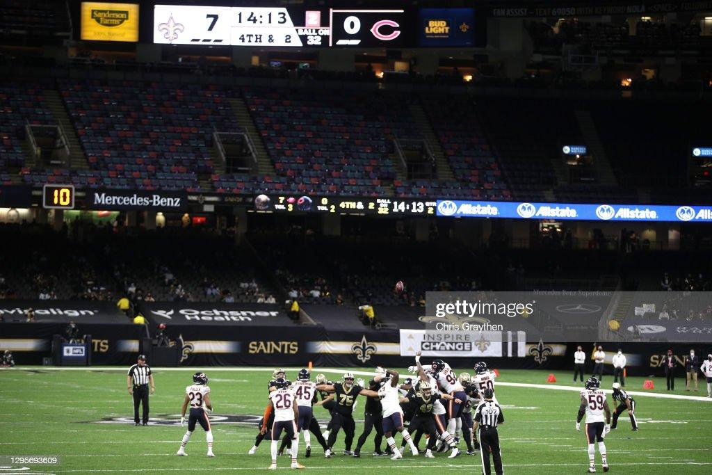 Wild Card Round - Chicago Bears v New Orleans Saints : ニュース写真