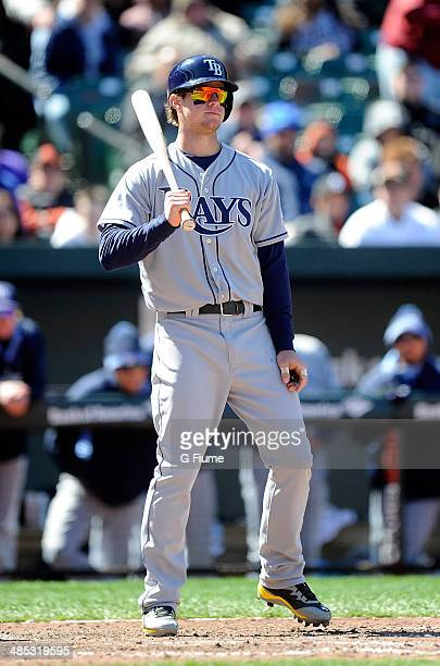 Wil Myers of the Tampa Bay Rays bats against the Baltimore Orioles at Oriole Park at Camden Yards on April 16 2014 in Baltimore Maryland All...