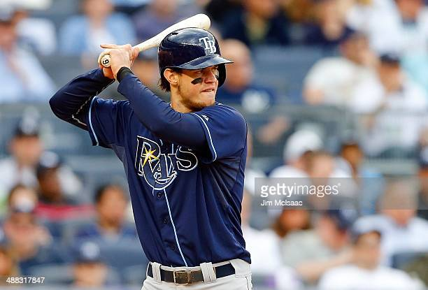 Wil Myers of the Tampa Bay Rays in action against the New York Yankees at Yankee Stadium on May 3 2014 in the Bronx borough of New York City The...