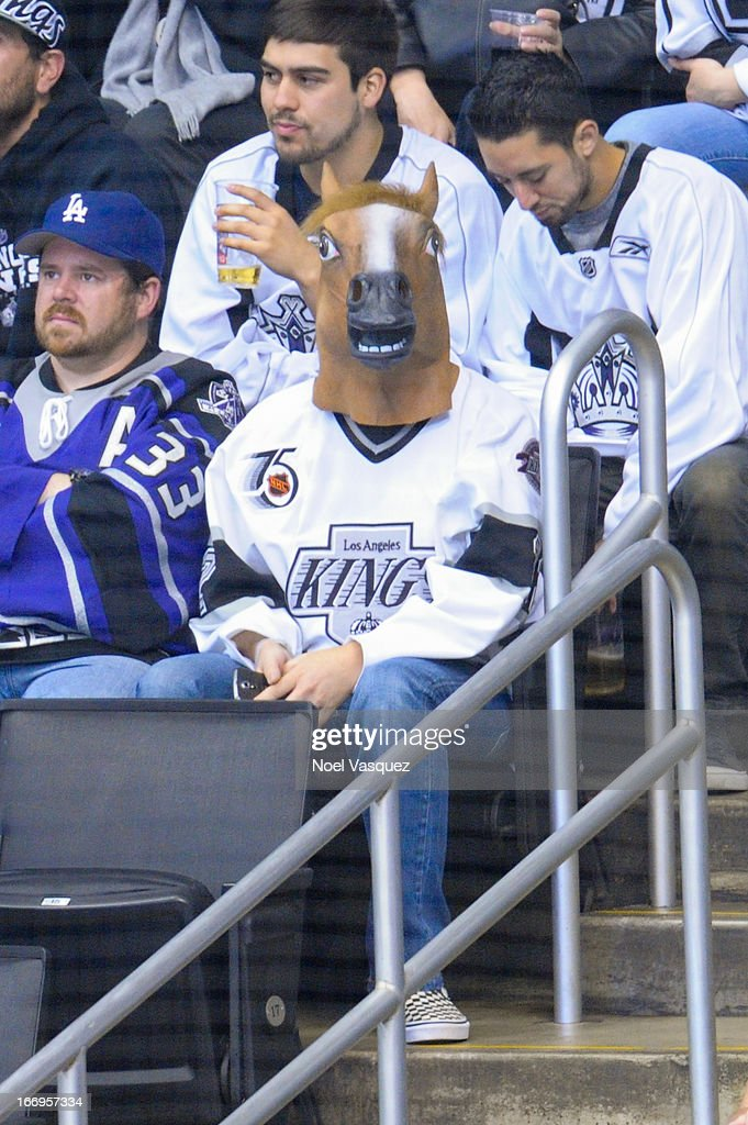 Wil Wheaton attends a hockey game between the Columbus Blue Jackets and the Los Angeles Kings at Staples Center on April 18, 2013 in Los Angeles, California.