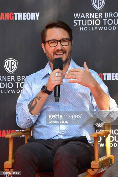 Wil Wheaton speaks during the unveiling of The Big Bang Theory sets now available at Warner Bros Studio Tour Hollywood on June 27 2019 in Los Angeles...