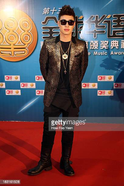 Wilber Pan of Chinese Taipei poses during the red capet prior to the start of the 13th Global Chinese Music Awards at Putra Stadium on October 5 2013...