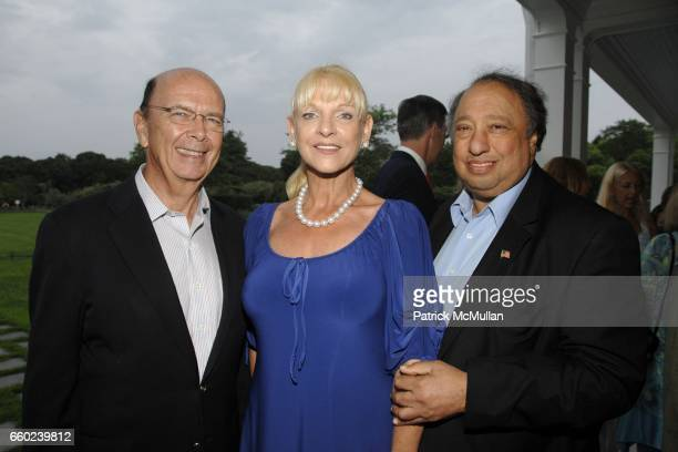 Wilber Ross Margo Catsimatidis and John Catsimatidis attend the Kickoff Party for the 2009 Alzheimer's Association Rita Hayworth Gala at a Private...