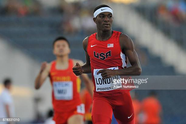Wilbert London from USA competes in men's 400 metres during the IAAF World U20 Championships at the Zawisza Stadium on July 21 2016 in Bydgoszcz...