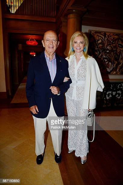 Wilbur Ross and Hilary Geary Ross attend Tom Diane Tuft and Christina Cuomo Celebrate the Launch of Jay McInerney's New Novel Bright Precious Days at...