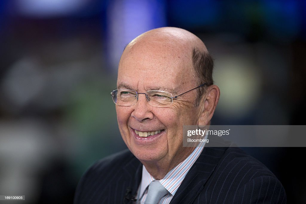 Wilbur Ross, billionaire and chief executive officer of WL Ross & Co. LLC, reacts during a Bloomberg Television interview in London, U.K. on Monday, May 20, 2013. Ross said he intends to add to his shipping investments as slowing growth of the merchant fleet spurs an industry recovery as soon as next year. Photographer: Simon Dawson/Bloomberg via Getty Images