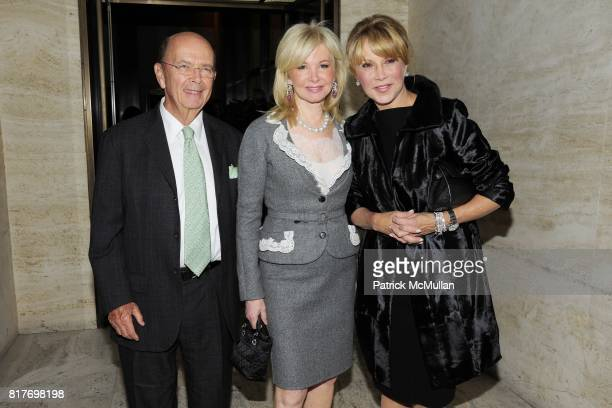 Wilbur Ross Hilary Geary Ross and Mila Mulroney attend MUSEUM OF THE CITY OF NEW YORK Director's Council Host's NEW YORK AFTER DARK at Pool Room on...