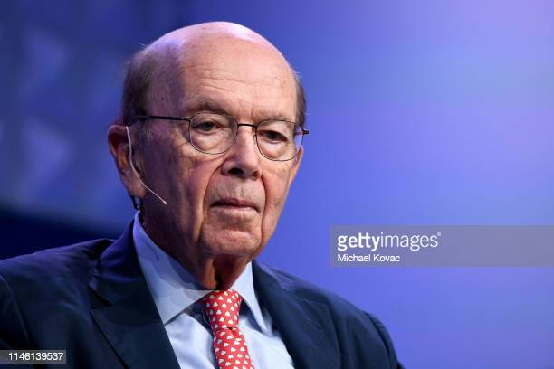 Wilbur Ross participates in a panel discussion during the annual Milken Institute Global Conference at The Beverly Hilton Hotel on April 29 2019 in...