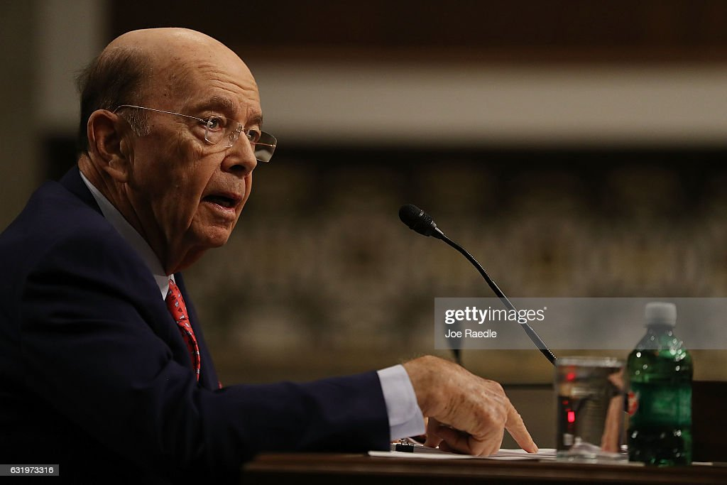 Confirmation Hearing Held For Trump's Pick To Become Commerce Secretary Wilbur Ross : News Photo