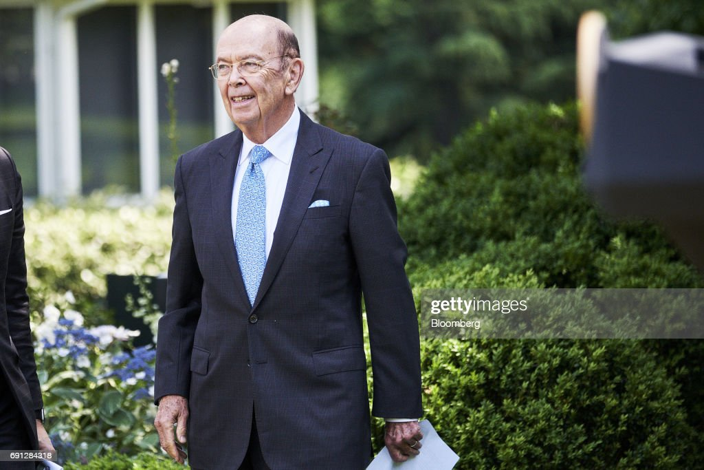 Wilbur Ross, U.S. commerce secretary, arrives for an announcement in the Rose Garden of the White House in Washington, D.C., U.S., on Thursday, June 1, 2017. President Donald Trump announced the U.S. would withdraw from the Paris climate pact and that he will seek to renegotiate the international agreement in a way that treats American workers better. Photographer: T.J. Kirkpatrick/Bloomberg via Getty Images
