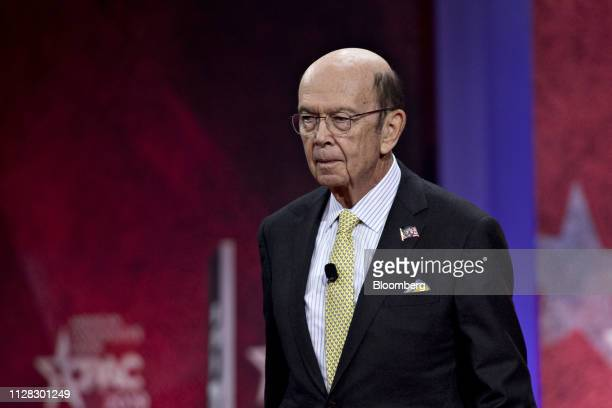 Wilbur Ross US commerce secretary arrives to speak during the Conservative Political Action Conference in National Harbor Maryland US on Friday March...