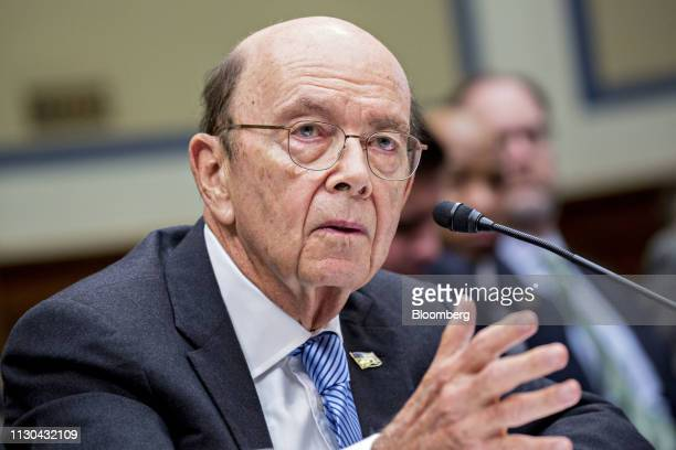 Wilbur Ross US commerce secretary speaks during a House Oversight Committee hearing in Washington DC US on Thursday March 14 2019 A main topic of the...