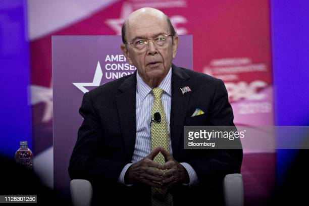 Wilbur Ross US commerce secretary speaks during the Conservative Political Action Conference in National Harbor Maryland US on Friday March 1 2019...