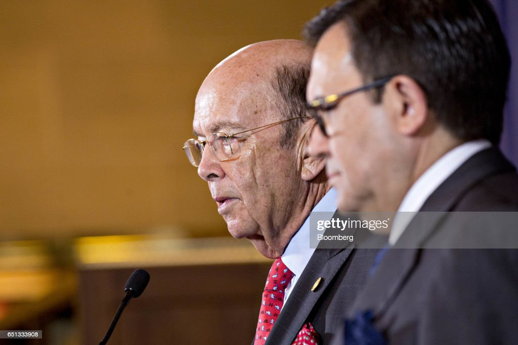 Commerce Secretary Wilbur Ross And Mexico's Minister Of Economy Villarreal Hold News Conference
