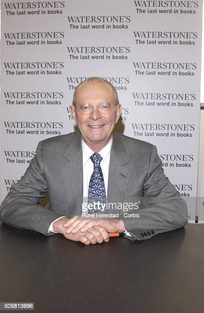 Wilbur Smith at a book signing in Waterstone's