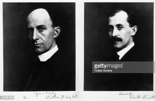 Wilbur Wright and Orville Wright the two brothers who worked closely together in the early development of aeronutics inventing and flying the first...