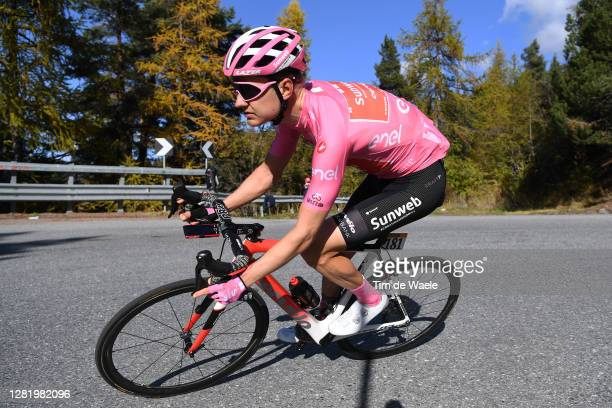 Wilco Kelderman of The Netherlands and Team Sunweb Pink Leader Jersey / during the 103rd Giro d'Italia 2020, Stage 20 a 190km stage from Alba to...