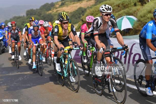 Wilco Kelderman of The Netherlands and Team Sunweb / Steven Kruijswijk of The Netherlands and Team LottoNL - Jumbo / Thibaut Pinot of France and Team...