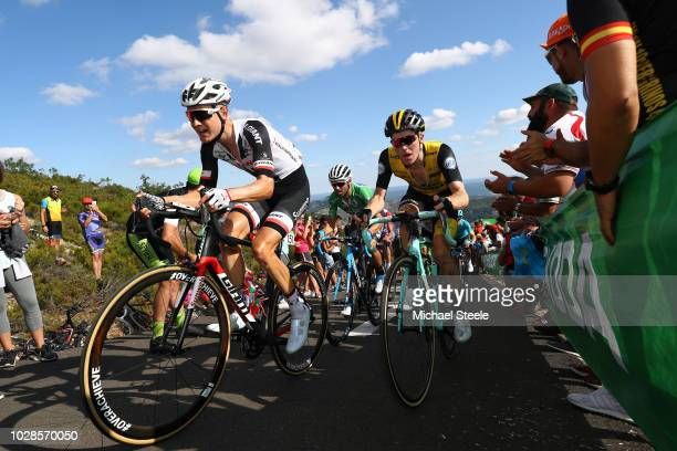 Wilco Kelderman of The Netherlands and Team Sunweb / Steven Kruijswijk of The Netherlands and Team LottoNL - Jumbo / Alto de la Camperona / Fans /...