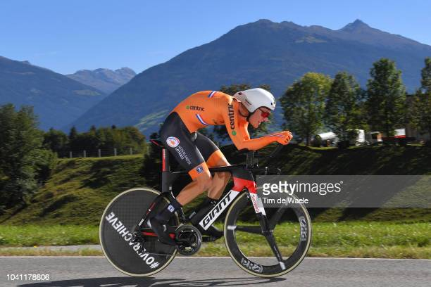 Wilco Kelderman of The Netherlands / during the Men Elite Individual Time Trial a 525km race from Rattenberg to Innsbruck 582m at the 91st UCI Road...