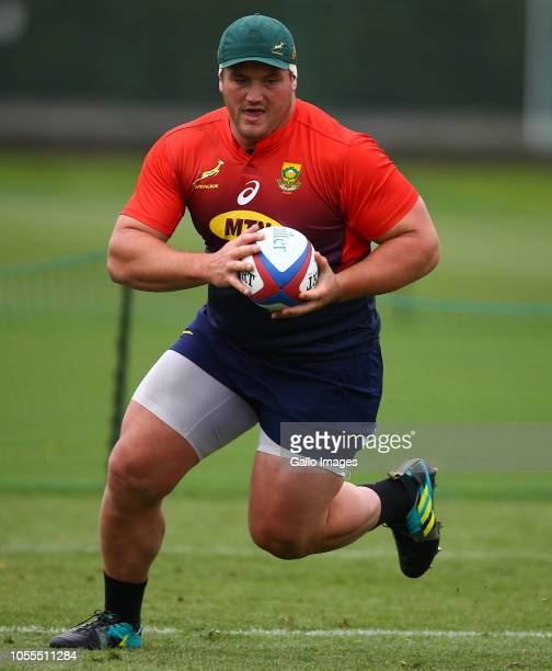 Wilco Louw during the South African national rugby team training session at Latymer Lower School on October 30 2018 in London England