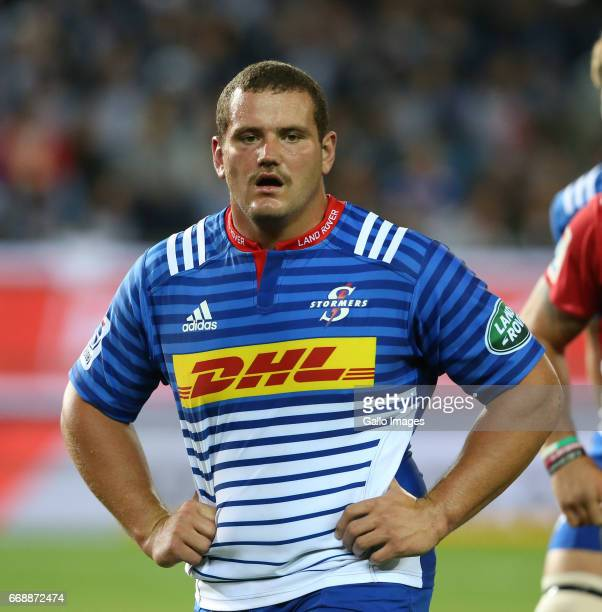 Wilco Louw of the Stormers during the Super Rugby match between DHL Stormers and Emirates Lions at DHL Newlands on April 15 2017 in Cape Town South...