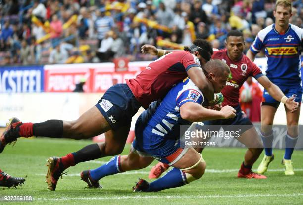 Wilco Louw of the Stormers during the Super Rugby match between DHL Stormers and Reds at DHL Newlands Stadium on March 24 2018 in Cape Town South...